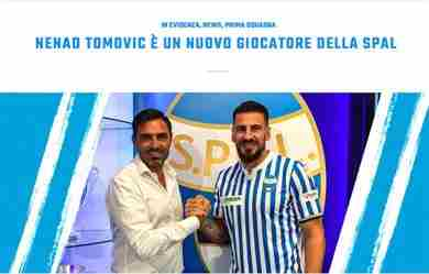 Spal: Tomovic ufficiale